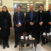 گزارش دیدار مدیرعامل ومسئولین سرای نرجس با ابراهیمی مدیر جدید بهزیستی شیراز