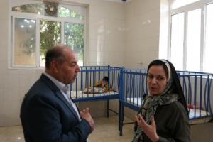حضور سرکارخانم لیلا دودمان عضو محترم شورای شهر شیراز، در مؤسسهی خیریهی نرجس